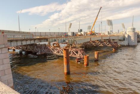 Производство и монтаж металлоконструкций Тучкова моста