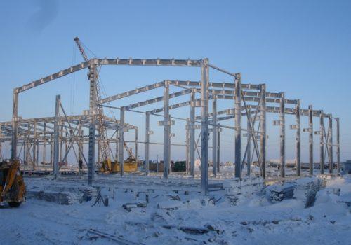 Изготовление и монтаж металлоконструкций базы бурения на полуострове Ямал